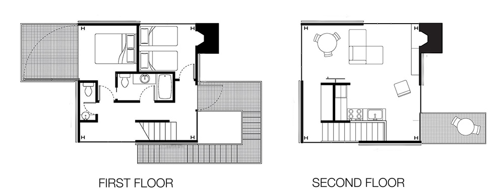 Minimalist floor plan home design for Minimalist floor plans