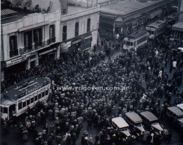 Hipólito Yrigoyen en campaña electoral