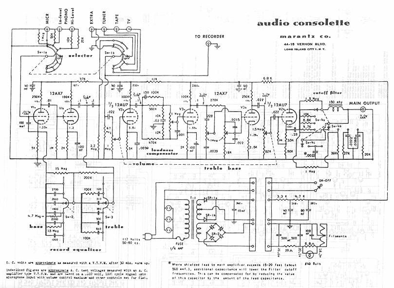 Marantz 7 Schematic – The Wiring Diagram
