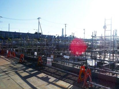 ②地下ピット部の基礎打設の様子