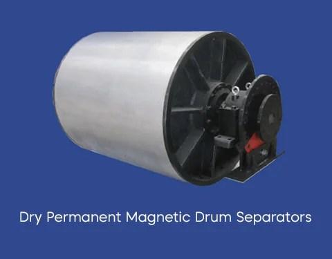 dry permanent magnetic drum separator