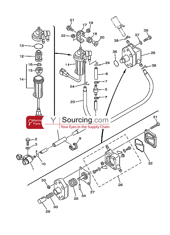 Yamaha 25esh Outboard Electrical Diagram