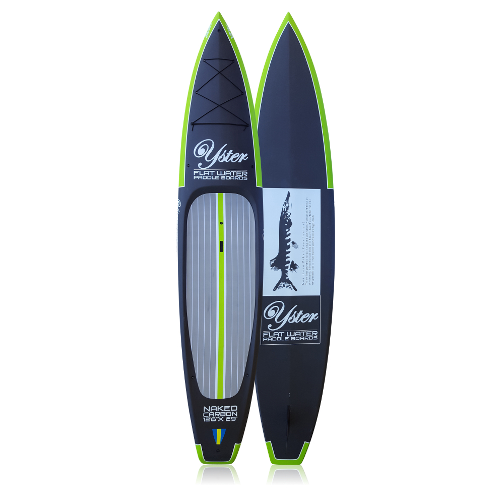 """Yster SUP 12'6x29"""" Naked Carbon Top & Bottom"""