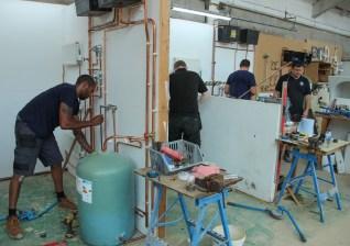 Plumbing in a radiator system