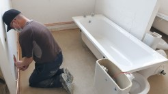 First week back plumbing in a bathroom