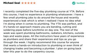 Michael Seal 5 day plumbing course review