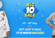 Flipkart Big 10 Sale from 14 May to 18 May: Great Offers
