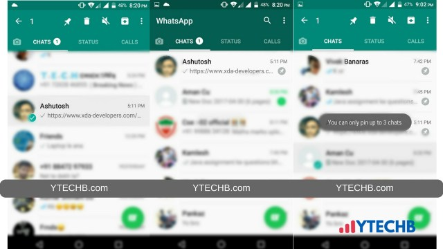 Now Pin your Favorite Chat on Top in WhatsApp