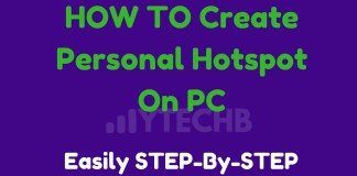How to Create Personal Hotspot On PC