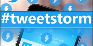 Tweetstorm on Twitter
