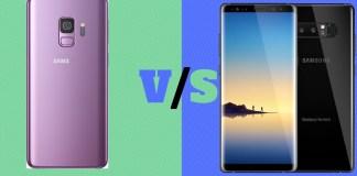 Samsung Galaxy S9 vs Note 8