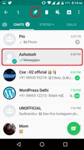 pin chat on whatsapp