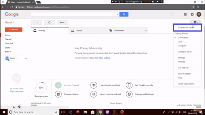 Enable new Gmail UI
