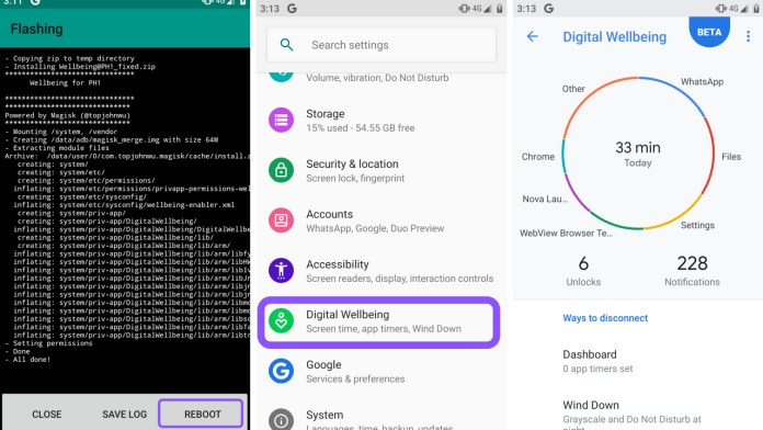 Digital Wellbeing on Android Pie root