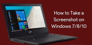 how to take a screenshot on windows