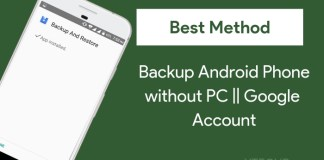 how to backup android phone