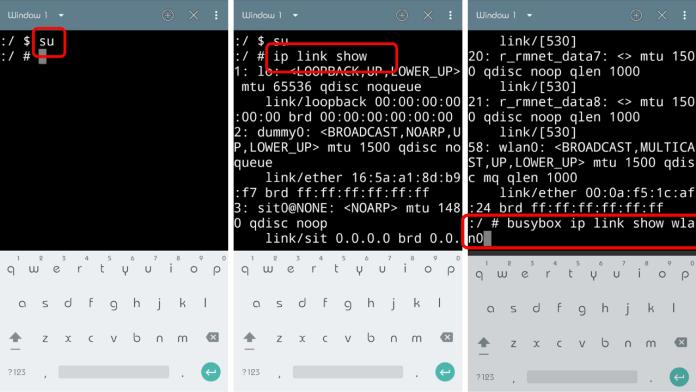 how to change mac address root