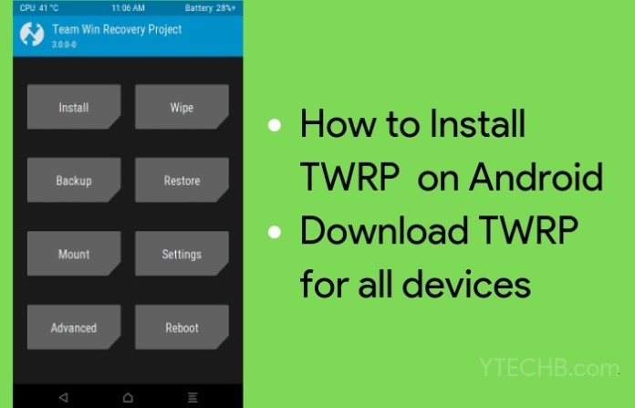 install twrp recovery
