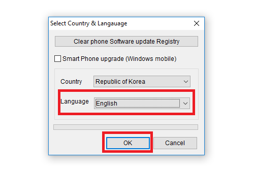Flash firmware using lg flash tool