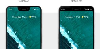 How to Hide notch on google pixel 3 XL