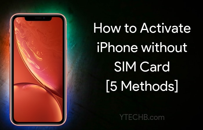 How to activate iphone 5c without sim card