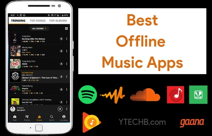 Good free music apps without internet