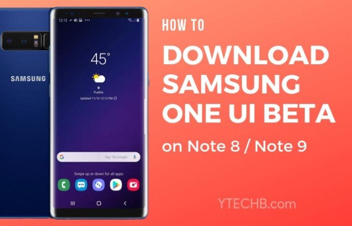 Download Samsung One UI beta for Note 8
