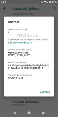 Download Moto G6 Plus Pie Update