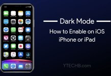 dark mode on iphone