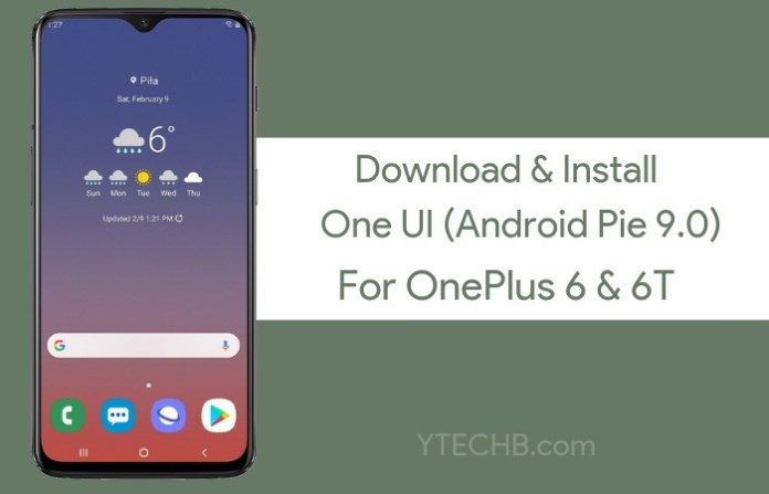 install one ui on oneplus 6/6t