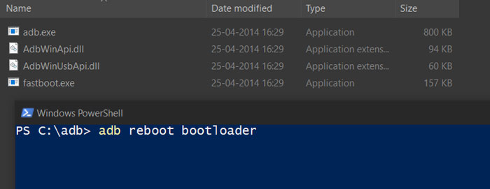 Reboot To Bootloader