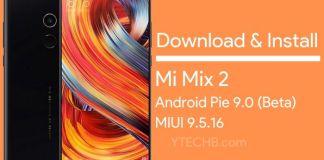 Mi Mix 2 Android Pie Beta Update