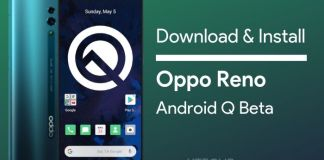 Oppo Reno Standard Edition Android Q Beta Update