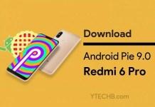 Download Redmi 6 Pro Android Pie Update