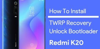 how to install twrp on redmi k20 pro