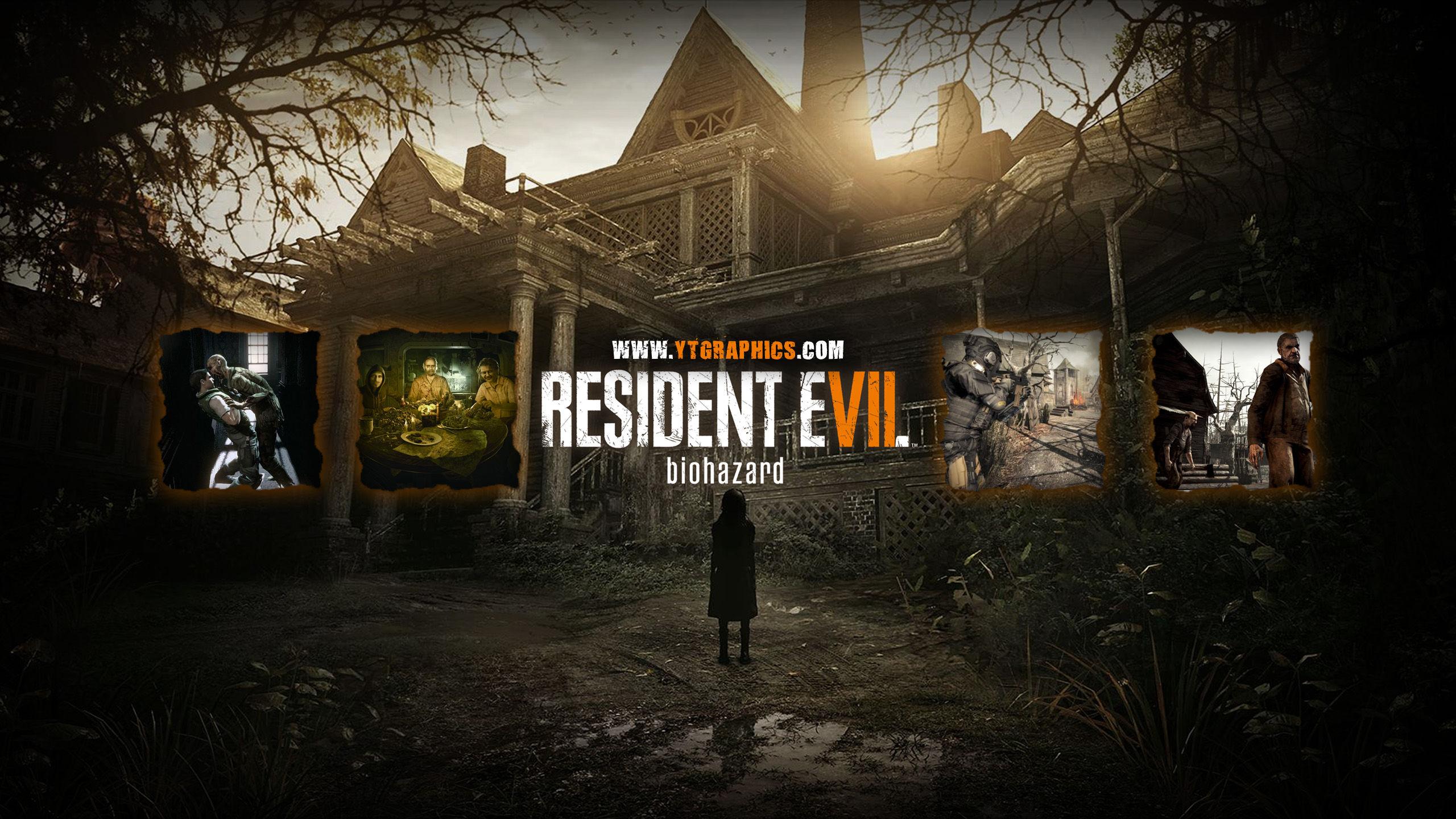 Resident Evil 7 Biohazard YouTube Channel Art Banners