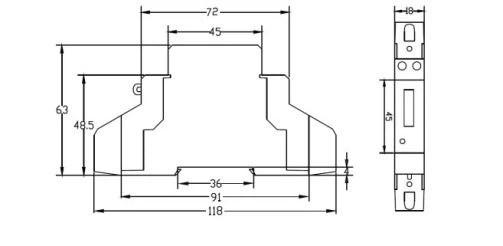 Low Price Single Phase Din-Rail Sub-metering Meter