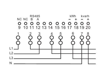 Low Price Three-Phase Three-Wire Energy Meter