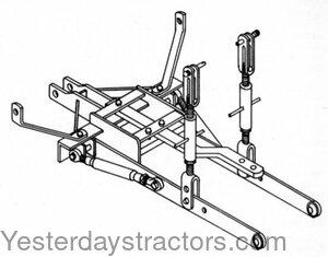Allis Chalmers Hitch / Drawbar HK307 3 Point Conversion Kit