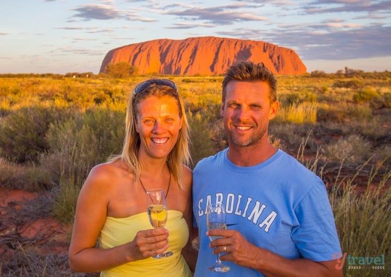Sunset drinks at Uluru - Northern Territory, Australia