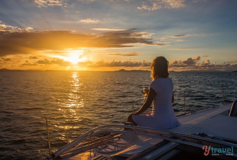 Go sunset sailing around Great Keppel Island in Queensland, Australia
