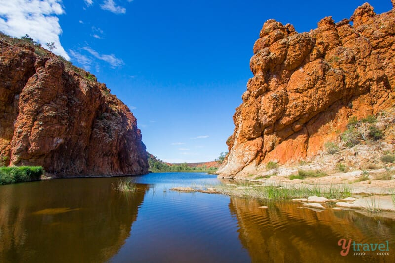 Glen Helen Gorge in the Northern Territory of Australia