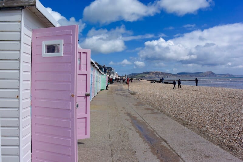 Boardwalk in Lyme Regis in South West England