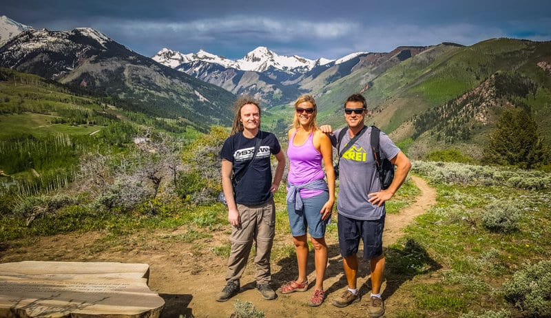 Hiking to the Yin Yang Lookout in Snowmass, Colorado
