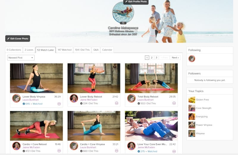 Grokker Review variety of online fitness and yoga classes