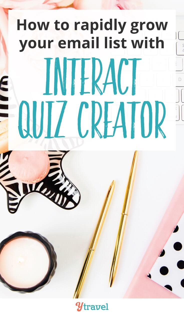 How to grow your email list with an online quiz creator. Read my Interact review to learn an email strategy to grow your subscribers through fun online quizzes and have greater success with your blog