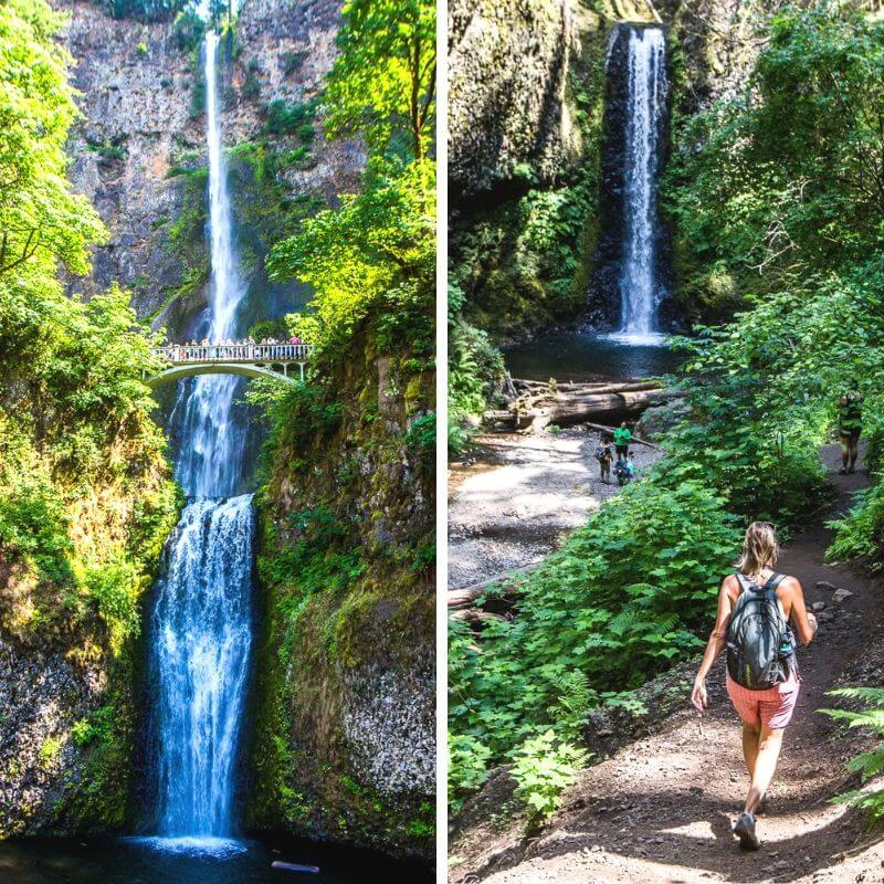 Multnomah Falls, Oregon. One of the best things to see in Oregon