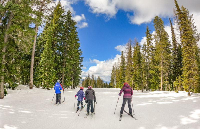 Ski lessons with Tom at Lookout Pass