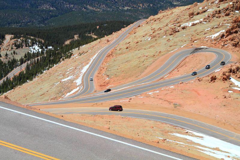 pikes peak scenic drive colorado