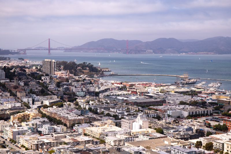 San FRancisco views from Coit Tower